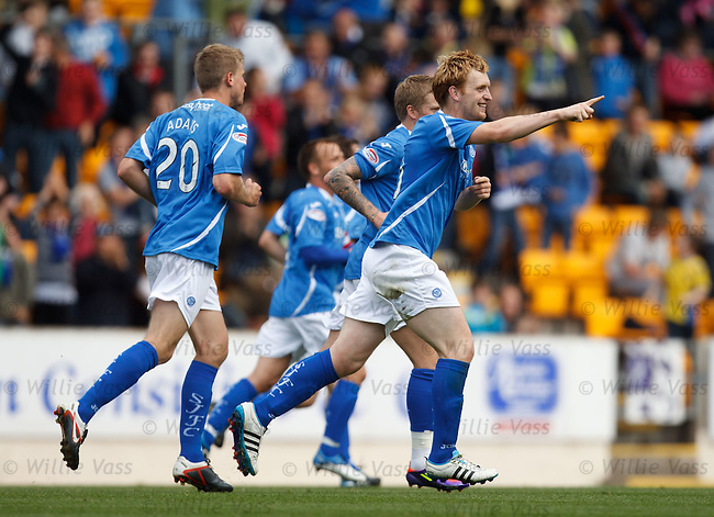 Liam Craig celebrates his goal for St Johnstone