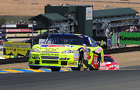 Jun. 21, 2009; Sonoma, CA, USA; NASCAR Sprint Cup Series driver Mark Martin during the SaveMart 350 at Infineon Raceway. Mandatory Credit: Mark J. Rebilas-