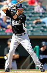 28 February 2007: Florida Marlins' third baseman Aaron Boone in action during a pre-season Grapefruit League game against the St. Louis Cardinals on Opening Day for Spring Training at Roger Dean Stadium in Jupiter, Florida. The Cardinals and Marlins share Roger Dean Stadium and the training facilities which opened in 1998 as a co-development between the Cardinals and the Montreal Expos.<br /> <br /> Mandatory Photo Credit: Ed Wolfstein Photo