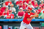 28 February 2019: St. Louis Cardinals infielder Max Schrock at bat during a Spring Training game against the New York Mets at Roger Dean Stadium in Jupiter, Florida. The Mets defeated the Cardinals 3-2 in Grapefruit League play. Mandatory Credit: Ed Wolfstein Photo *** RAW (NEF) Image File Available ***