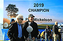 Phil Mickelson (USA) and Clint Eastwood poses with the trophy after the final round of the AT&T Pro-Am, Pebble Beach Golf Links, Monterey, USA. 11/02/2019<br /> Picture: Golffile | Phil Inglis<br /> <br /> <br /> All photo usage must carry mandatory copyright credit (© Golffile | Phil Inglis)