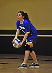 14 October 2012: Yeshiva University Maccabee Lindsay Wess, a Junior from Los Angeles, CA, in action against the Culinary Institute Steels at Culinary Institute of America in Hyde Park, NY. The Steels defeated the Maccabees 3-0 in NCAA women's volleyball play. Mandatory Credit: Ed Wolfstein Photo
