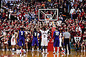 23 February 2011: Jacob Pullen #0 of the Kansas State Wildcats makes a free throw in the last seconds to extend the lead against the Nebraska Cornhuskers at the Devaney Sports Center in Lincoln, Nebraska. Kansas State defeated Nebraska 61 to 57.