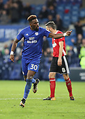 31st October 2017, Cardiff City Stadium, Cardiff, Wales; EFL Championship football, Cardiff City versus Ipswich Town; Omar Bogle of Cardiff City celebrates scoring Cardiff City 2nd goal making it 2-0