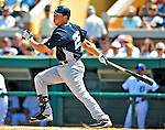 11 March 2009: New York Yankees' infielder Mark Teixeira connects for a base hit during a Spring Training game against the Detroit Tigers at Joker Marchant Stadium in Lakeland, Florida. The Tigers defeated the Yankees 7-4 in the Grapefruit League matchup. Mandatory Photo Credit: Ed Wolfstein Photo