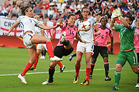 20170719 - UTRECHT , NETHERLANDS : English Jodie Taylor (9 pictured scoring her second gaol during the female soccer game between England and Scotland  , the frist game in group D at the Women's Euro 2017 , European Championship in The Netherlands 2017 , Wednesday 19 th June 2017 at Stadion De Galgenwaard  in Utrecht , The Netherlands PHOTO SPORTPIX.BE | DIRK VUYLSTEKE