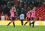 Disappointed Scotland players walk off during the FIFA World Cup Qualifying Group F match at Wembley Stadium, London. Picture date: November 11th, 2016. Pic David Klein/Sportimage