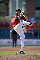 Erie SeaWolves pitcher Tarik Skubal (33) during an Eastern League game against the Richmond Flying Squirrels on August 28, 2019 at UPMC Park in Erie, Pennsylvania.  Richmond defeated Erie 6-4 in the first game of a doubleheader.  (Mike Janes/Four Seam Images)