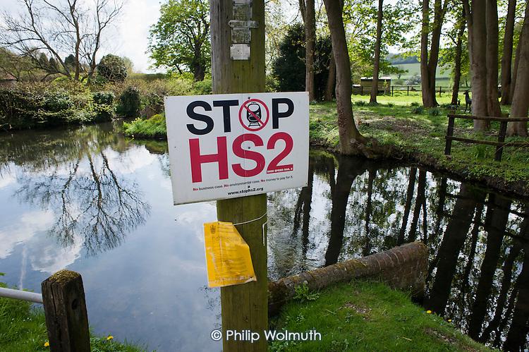 Anti-HS2 sign in Little Missenden, Buckinghamshire