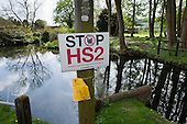 Anti-HS2 sign in Little Missenden, Buckinghamshire