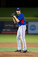 AZL Rangers starting pitcher Hans Crouse (55) prepares to deliver a pitch to the plate against the AZL Giants on September 4, 2017 at Scottsdale Stadium in Scottsdale, Arizona. AZL Giants defeated the AZL Rangers 6-5 to advance to the Arizona League Championship Series. (Zachary Lucy/Four Seam Images)