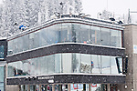 HOLMENKOLLEN, OSLO, NORWAY - March 16: Commentator cabins during the cross country 15 km (2 x 7.5 km) competition at the FIS Nordic Combined World Cup on March 16, 2013 in Oslo, Norway. (Photo by Dirk Markgraf)