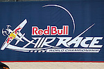 Red Bull Air Race insignia on display during the Red Bull Air Race at the Texas Motor Speedway in Fort Worth, Texas.