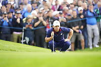Paul Casey (Team Europe) on the 5th during the friday fourballs at the Ryder Cup, Le Golf National, Iles-de-France, France. 27/09/2018.<br /> Picture Fran Caffrey / Golffile.ie<br /> <br /> All photo usage must carry mandatory copyright credit (© Golffile | Fran Caffrey)