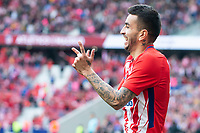 Atletico de Madrid Angel Correa celebrating a goal during La Liga match between Atletico de Madrid at Wanda Metropolitano in Madrid, Spain. April 15, 2018. (ALTERPHOTOS/Borja B.Hojas) /NortePhoto.com NORTEPHOTOMEXICO