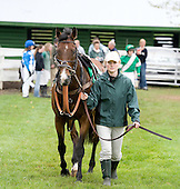 2009 jump champ Mixed Up in the paddock prior to the Temple Gwathmey.