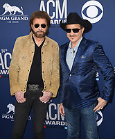 LAS VEGAS, NEVADA - APRIL 07: Kix Brooks, Ronnie Dunn attends the 54th Academy Of Country Music Awards at MGM Grand Hotel &amp; Casino on April 07, 2019 in Las Vegas, Nevada. <br /> CAP/MPIIS<br /> &copy;MPIIS/Capital Pictures