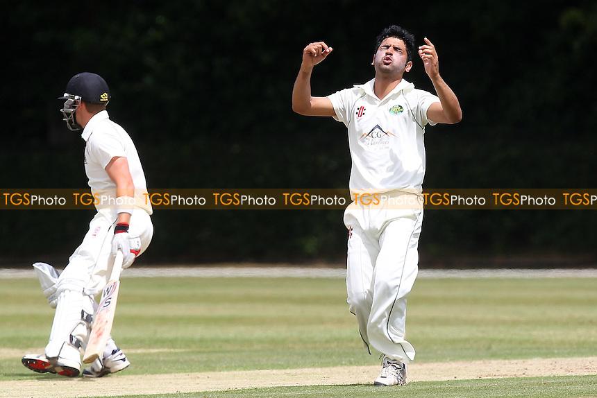Brentwood CC (batting) vs Harold Wood CC - Essex Cricket League - 28/06/14 - MANDATORY CREDIT: Gavin Ellis/TGSPHOTO - Self billing applies where appropriate - 0845 094 6026 - contact@tgsphoto.co.uk - NO UNPAID USE