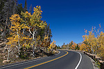 Autumn colors along the park road through the high country in Rocky Mountain National Park, Colorado, USA