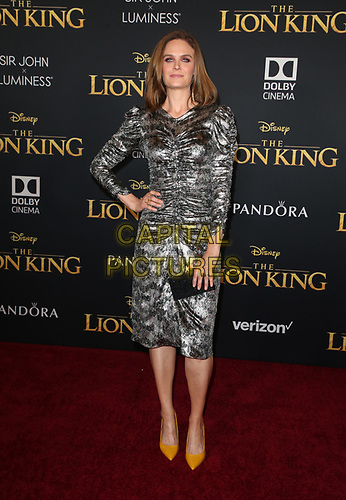 HOLLYWOOD, CA - JULY 9: Emily Deschanel at The Lion King Film Premiere at El Capitan Theatre in Hollywood, California on July 9, 2019. <br /> CAP/MPIFS<br /> ©MPIFS/Capital Pictures