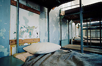 Bunk beds of the old prison at Robben Island Museum, near Cape Town, South Africa