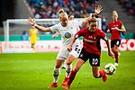 01.05.2019, RheinEnergie Stadion , Köln, GER, DFB Pokalfinale der Frauen, VfL Wolfsburg vs SC Freiburg, DFB REGULATIONS PROHIBIT ANY USE OF PHOTOGRAPHS AS IMAGE SEQUENCES AND/OR QUASI-VIDEO<br /> <br /> im Bild | picture shows:<br /> Zweikampf zwischen Greta Stegemann (SC Freiburg Frauen #20) und Pia-Sophie Wolter (VfL Wolfsburg #20), <br /> <br /> Foto © nordphoto / Rauch
