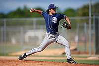 Zachary Agnos during the WWBA World Championship at the Roger Dean Complex on October 18, 2018 in Jupiter, Florida.  Zachary Agnos is a shortstop / right handed pitcher from Haymarket, Virginia who attends Battlefield High School and is committed to East Carolina.  (Mike Janes/Four Seam Images)