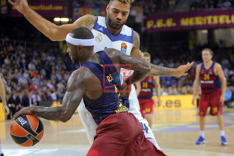 Turkish Airlines Euroleague 2016/2017.<br /> Regular Season - Round 8.<br /> FC Barcelona Lassa vs R. Madrid: 63-102.<br /> Jeffery Taylor vs Tyrese Rice.