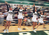Photo by: Lawrence McKee<br /> Let's get excited: With three straight Regional titles and home floor advantage going into this year's competitive cheer state finals, the Lake Orion Competitive Cheer Team was poised for another run at the top spot.