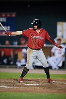 Erie SeaWolves designated hitter Will Maddox (31) at bat during a game against the Harrisburg Senators on August 29, 2018 at FNB Field in Harrisburg, Pennsylvania.  Harrisburg defeated Erie 5-4.  (Mike Janes/Four Seam Images)
