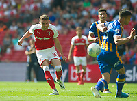 Rotherham Caolan Lavery during the Sky Bet League 1 Play Off FINAL match between Rotherham United and Shrewsbury Town at Wembley, London, England on 27 May 2018. Photo by Andrew Aleksiejczuk / PRiME Media Images.