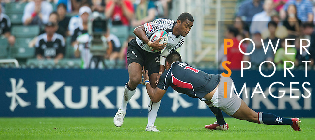 Fiji play Hong Kong on Day 1 of the Cathay Pacific / HSBC Hong Kong Sevens 2013 at Hong Kong Stadium, Hong Kong. Photo by Victor Fraile / The Power of Sport Images