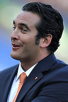 ROME, Italy - September 1, 2013: Roma beats Verona 3-0 during the Serie A match in Olimpico Stadium. In the photo the AS Roma CEO Italo Zanzi