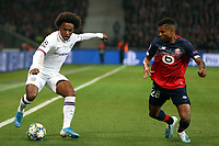 Willian of Chelsea and Reinildo Mandava of Lille OSC during Lille OSC vs Chelsea, UEFA Champions League Football at Stade Pierre-Mauroy on 2nd October 2019
