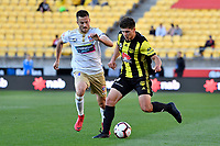 Wellington Phoenix' Liberato Cacace in action during the A League - Wellington Phoenix v Newcastle Jets at Westpac Stadium, Wellington, New Zealand on Sunday 21 October  2018. <br /> Photo by Masanori Udagawa. <br /> www.photowellington.photoshelter.com