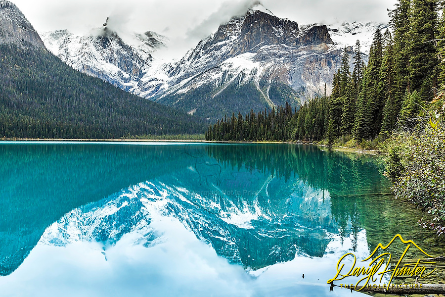 Emerald Lake, Yoho National Park in British Columbia.  The crazy color of the lakes of the Canadian is an amazing sight