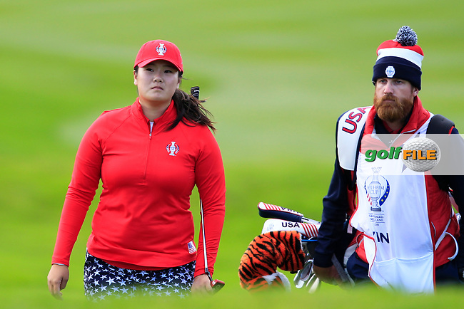 Angel Yin Team USA on the 7th during Day 1 Fourball at the Solheim Cup 2019, Gleneagles Golf CLub, Auchterarder, Perthshire, Scotland. 13/09/2019.<br /> Picture Thos Caffrey / Golffile.ie<br /> <br /> All photo usage must carry mandatory copyright credit (© Golffile   Thos Caffrey)