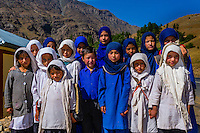 Muslim school children in Dras, Ladakh, Jammu and Kashmir State, India.