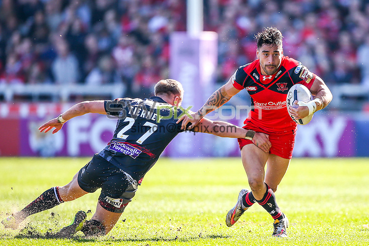 Picture by Alex Whitehead/SWpix.com - 06/04/2015 - Rugby League - First Utility Super League - Salford Red Devils v Wigan Warriors - AJ Bell Stadium, Salford, England -