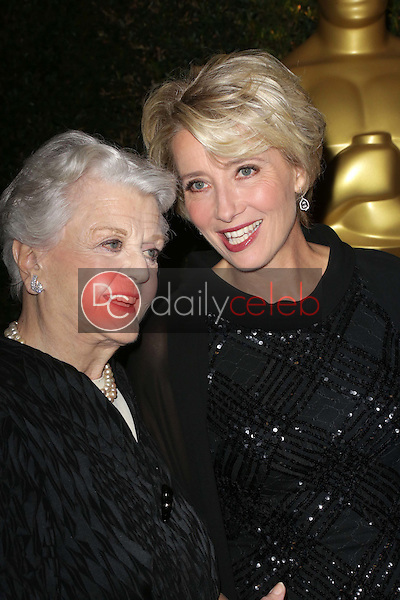 Angela Lansbury, Emma Thompson<br /> at the Academy Of Motion Picture Arts And Sciences' Governors Awards, Ray Dolby Ballroom, Hollywood, CA 11-16-13<br /> David Edwards/DailyCeleb.Com 818-249-4998
