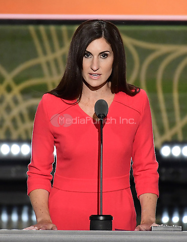 Kerry Woolard, General Manager, Trump Winery, makes remarks at the 2016 Republican National Convention held at the Quicken Loans Arena in Cleveland, Ohio on Tuesday, July 19, 2016.<br /> Credit: Ron Sachs / CNP/MediaPunch<br /> (RESTRICTION: NO New York or New Jersey Newspapers or newspapers within a 75 mile radius of New York City)
