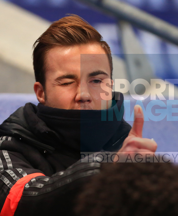 Mario Gotze of Munich winks and gives the thumbs up from the bench - Manchester City vs. Bayern Munich - UEFA Champion's League - Etihad Stadium - Manchester - 25/11/2014 Pic Philip Oldham/Sportimage