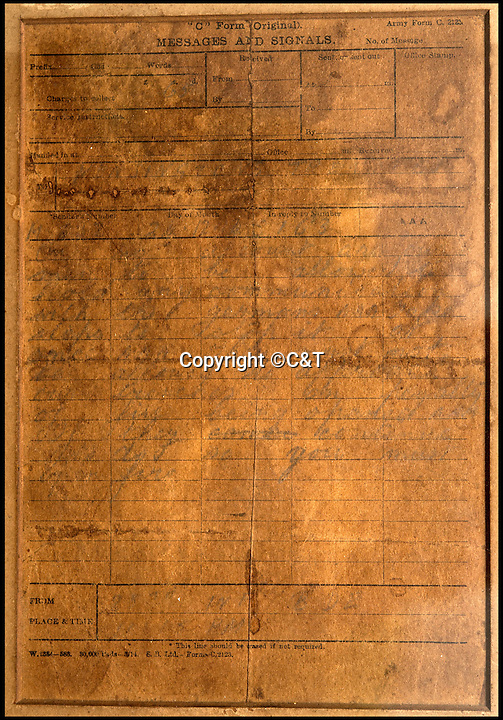 BNPS.co.uk (01202 558833)<br /> Pic: C&amp;T/BNPS<br /> <br /> The order is written in barely legible pencil.<br /> <br /> An unseen order that reveals the British High Commands alarm as the famous Xmas truce of 1914 developed has come to light after 102 years.<br /> <br /> The order from the Brigade HQ of the County of London battalion the was rushed to the front line at 11.15pm on Christmas Eve 1914, as reports started filtering back of the fraternisation<br /> between the opposing trenches.<br /> <br /> The order commanded the officers in the trenches 'On no account are our men allowed to hold any communication with the Germans' and 'you must open fire'  if they approached the British lines.<br /> <br /> The festive-time ceasefire, in no-man's land near Flanders, is often cited as an inspiring symbol of peace in the midst of the otherwise bloody, violent conflict of the First World War.<br /> <br /> The framed order is being sold by C&amp;T Auctioneers, of Ashford in Kent, with an estimate of &pound;1,500 on September 7.