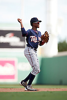 Minnesota Twins Gorge Munoz (2) during an Instructional League game against the Boston Red Sox on September 23, 2016 at JetBlue Park at Fenway South in Fort Myers, Florida.  (Mike Janes/Four Seam Images)