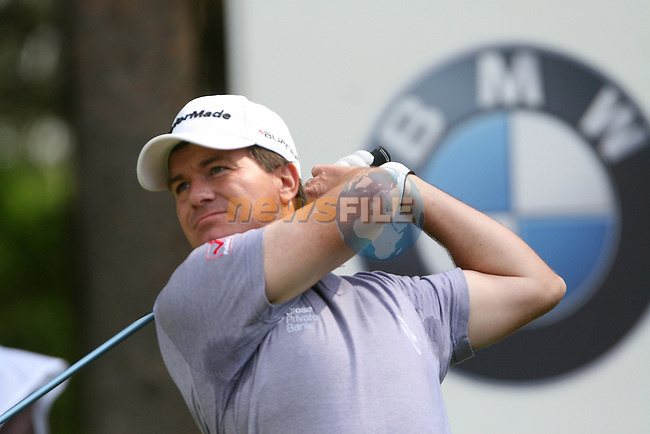 Miles Tunnicliff tees off on the 11th hole during the 3rd round of the 2008 BMW PGA Championship at Wentworth Club, Surrey, England 24th May 2008 (Photo by Eoin Clarke/GOLFFILE)