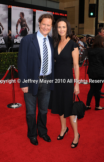 "HOLLYWOOD, CA. - May 17: Judge Reinhold and wife Amy Reinhold arrive at the ""Prince of Persia: The Sands of Time"" Los Angeles Premiere held at Grauman's Chinese Theatre on May 17, 2010 in Hollywood, California."