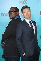 Randy Jackson and Ryan Seacrest at the Fox 2012 Programming Presentation Post-Show Party at Wollman Rink in Central Park on May 14, 2012 in New York City.