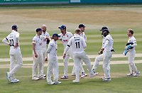 Essex players celebrate taking the wicket of Ryan Patel during Essex CCC vs Surrey CCC, Bob Willis Trophy Cricket at The Cloudfm County Ground on 11th August 2020