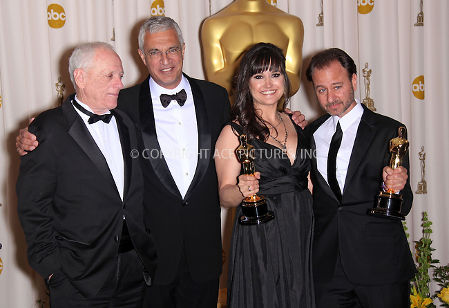 WWW.ACEPIXS.COM . . . . .  ....March 7 2010, Hollywood, CA....Best documentary feature winners RICHARD O'BARRY (L), director LOUIE PSIHOYOS (2nd L), producer PAULA DUPRE PESMAN (2nd R) and actor FISHER STEVENS from the film 'The Cove,' display their Oscar at the 82nd Annual Academy Awards held at Kodak Theatre on March 7, 2010 in Hollywood, California.....Please byline: Z10-ACE PICTURES... . . . .  ....Ace Pictures, Inc:  ..Tel: (212) 243-8787..e-mail: info@acepixs.com..web: http://www.acepixs.com