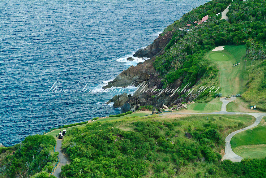 Aerial view of Devil's Triangle<br /> Mahogany Run Golf Course<br /> St. Thomas<br /> U.S. Virgin Islands